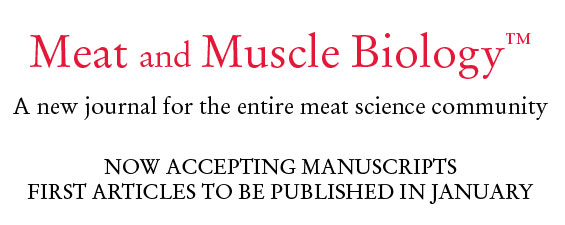 Meat and Muscle Biology to Debut Papers in January