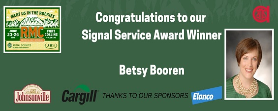 Dr. Betsy Booren Named as an AMSA Fellow and 2019 Signal Service Award Winner