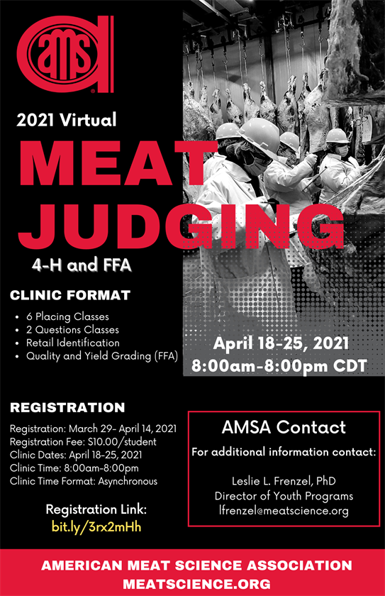 2021 Virtual Meat Judging Clinic Flyer