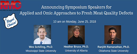 Applied and Omic Approaches to Fresh Meat Quality Defects Speakers Announced