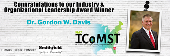 Dr. Gordon W. Davis Named AMSA 2020 Industry & Organizational Leadership Award Winner