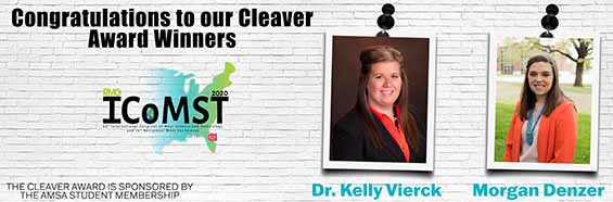 Kelly Vierck and Morgan Denzer Named Student Teacher Cleaver Award Winners