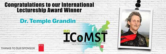 Dr. Temple Grandin Recognized as the 2020 AMSA International Lectureship Award Winner