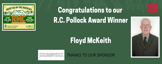 DR. FLOYD MCKEITH HONORED BY AMSA WITH THE 2019 R. C. POLLOCK AWARD