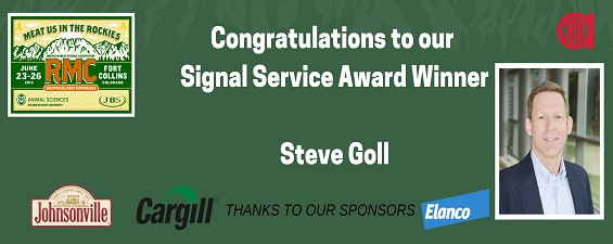 Dr. Steve Goll Named as an AMSA Fellow and 2019 Signal Service Award Winner