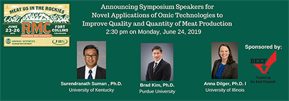 Novel Applications of Omic Technologies to Improve Quality and Quantity of Meat Production Speakers Announced