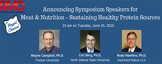 AMSA 71ST RMC MEAT & NUTRITION – SUSTAINING HEALTHY PROTEIN SOURCES SPEAKERS ANNOUNCED